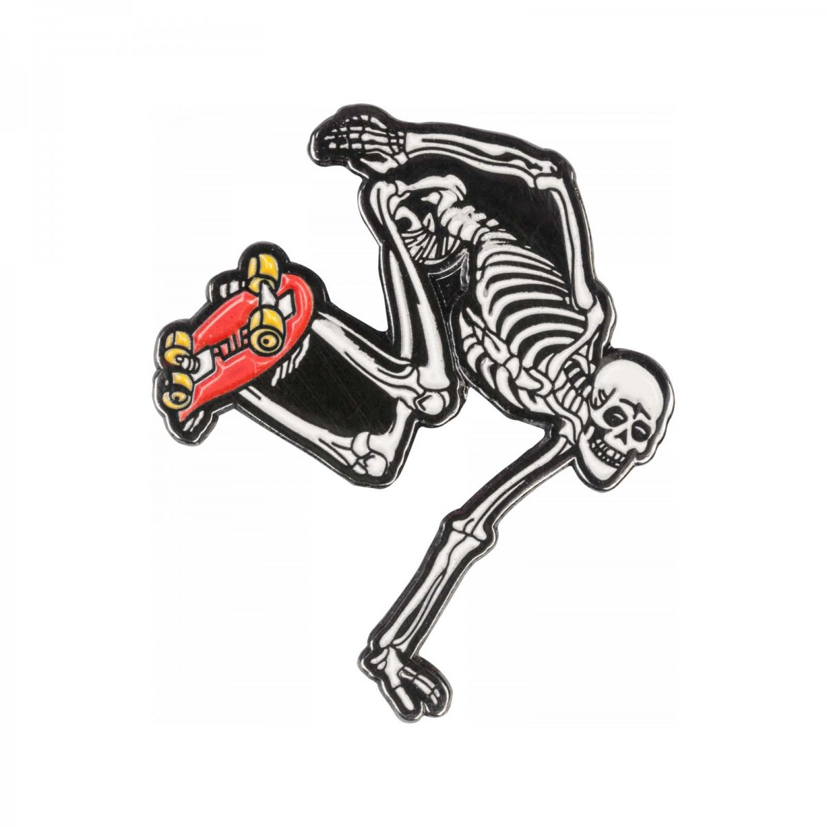 SKATEBOARD SKELETON PIN